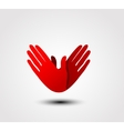 Caring hand icon vector