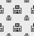 Hotkey icon sign seamless pattern with geometric vector