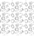 Black and white octoberfest seamless background vector
