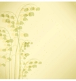 White may-lily flowers of the valley background vector