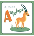 Letter a - antelope vector