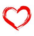 Dry brush painted heart vector