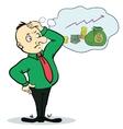 Man dream about money concept cartoon character vector
