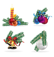 New year decorations set vector