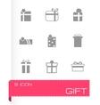 Gift icon set vector