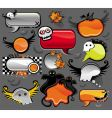 Halloween speech bubbles vector