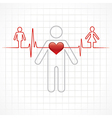 Heartbeat make a male and female symbol stock vec vector