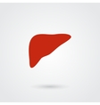 Simple liver icon vector