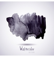 Watercolor design element grunge gray vector