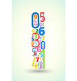 Letter i colored font from numbers vector