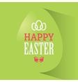 Happy easter green banner vector