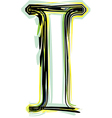 Font letter i vector