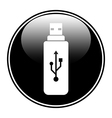 Usb flash button vector