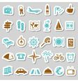 Travel and accommodation stickers vector