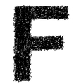 Alphabet f vector