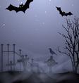 Halloween graveyeard vector
