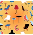 Pattern of different seating furniture vector