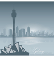 Sydney australia skyline city silhouette backgroun vector