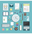 Office supplies collection flat style vector
