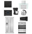 Set of kitchen appliances 01 vector