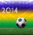 Soccer ball on grass vector