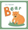 Letter b - bear vector