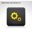 Settings icon gold vector