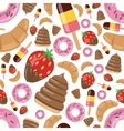 Desserts seamless pattern vector
