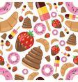 Desserts seamless pattern vector