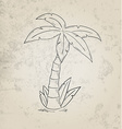 Sketch of the palm tree vector