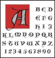 Hand drawn ancient style font set vector