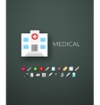 Flat design modern of brand identity style vector