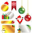 Merry christmas and new year promotion label vector
