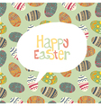 Easter greeting card retro vector