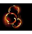 Three round fiery banner vector