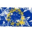 Grunge european flag artwork vector