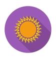 Sun single icon vector