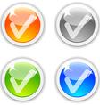 Ok buttons vector