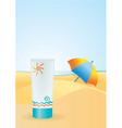 Sun cream vector