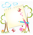 Colorful color pencil drawing background vector