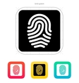Fingerprint and thumbprint icon vector