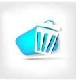 Recycle sign web icon vector