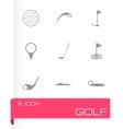 Golf icon set vector