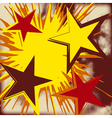 Grunge background of explosion star vector