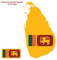 Sri lanka flag vector