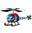 Cute helicopter cartoon vector