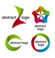 Collection of abstract multicolored logo of the ta vector