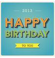 Happy birthday retro poster eps10 vector