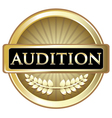Audition gold label vector