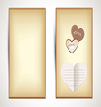 Horizontal flyers with hearts vector